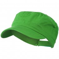 Colorful Washed Military Cap - Green