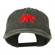 Chili Ristra Embroidered Washed Cap - Black