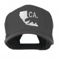 California with Bear Embroidered Cap - Charcoal Grey