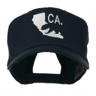 California with Bear Embroidered Cap - Navy