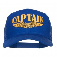 Captain Wing Logo Embroidered Mesh Cap - Royal