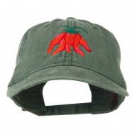 Chili Ristra Embroidered Washed Cap - Dark Green
