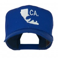 California with Bear Embroidered Cap - Royal