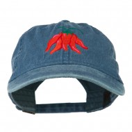 Chili Ristra Embroidered Washed Cap - Navy