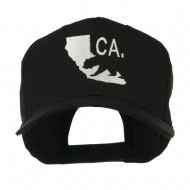 California with Bear Embroidered Cap - Black