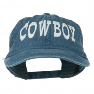 Cowboy Embroidered Washed Cap - Navy