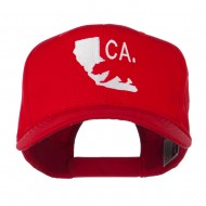 California with Bear Embroidered Cap - Red