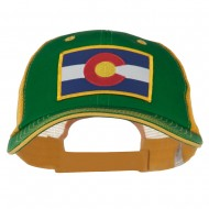 Colorado Western State Patched Big Washed Mesh Cap - Kelly Gold