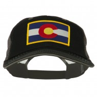 Colorado Western State Patched Big Washed Mesh Cap - Black Grey