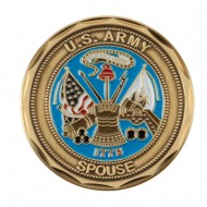 Proud U.S. Army Coin (2) - Green Spouse
