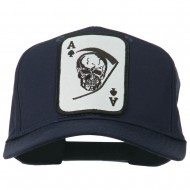 Ace Military Card Patched Solid Twill Cap - Navy