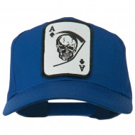Ace Military Card Patched Solid Twill Cap - Royal