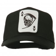 Ace Military Card Patched Solid Twill Cap - Black