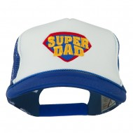 Super DAD Embroidered Foam Mesh Back Cap - Royal White