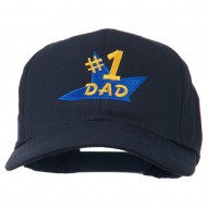 Number 1 Dad Star Embroidered Cap - Navy