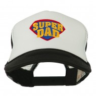 Super DAD Embroidered Foam Mesh Back Cap - Black White