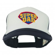 Super DAD Embroidered Foam Mesh Back Cap - Navy White