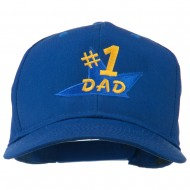 Number 1 Dad Star Embroidered Cap - Royal