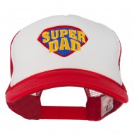 Super DAD Embroidered Foam Mesh Back Cap - Red White Red