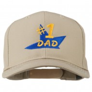 Number 1 Dad Star Embroidered Cap - Khaki