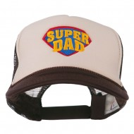 Super DAD Embroidered Foam Mesh Back Cap - Brown Tan