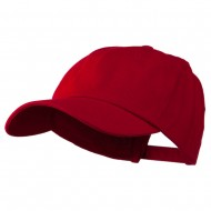 Deluxe Brushed Cotton Cap - Red