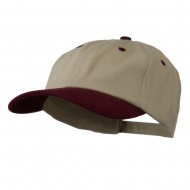 Deluxe Brushed Cotton Two Tone Cap - Sand Maroon