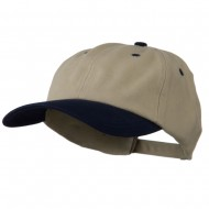 Deluxe Brushed Cotton Two Tone Cap - Sand Navy