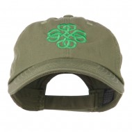 Double Circle Celtic Image Embroidered Cap - Olive