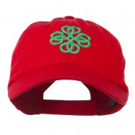 Double Circle Celtic Image Embroidered Cap - Red