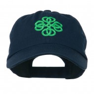 Double Circle Celtic Image Embroidered Cap - Navy