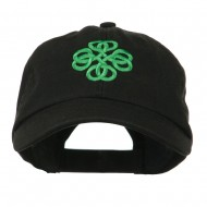 Double Circle Celtic Image Embroidered Cap - Black