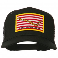Don't Tread On Me Flag Patched Mesh Cap - Black