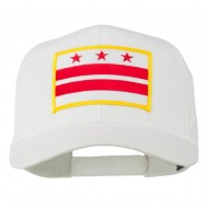 State of DC Embroidered Patch Cap - White