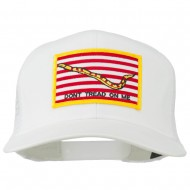 Don't Tread On Me Flag Patched Mesh Cap - White
