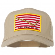 Don't Tread On Me Flag Patched Mesh Cap - Khaki