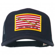 Don't Tread On Me Flag Patched Mesh Cap - Navy