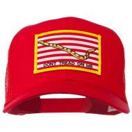 Don't Tread On Me Flag Patched Mesh Cap - Red