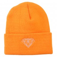 Diamond Neon Embroidered Beanie - Orange