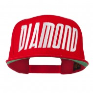 Diamond Embroidered 6 Panel Cap - Red