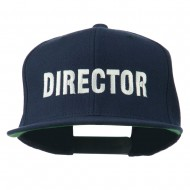 Director Embroidered Flat Bill Cap - Navy