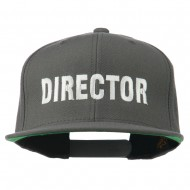Director Embroidered Flat Bill Cap - Grey