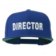 Director Embroidered Flat Bill Cap - Royal