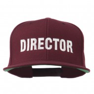 Director Embroidered Flat Bill Cap - Maroon