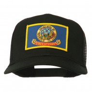 Idaho State Flag Patched Mesh Cap - Black