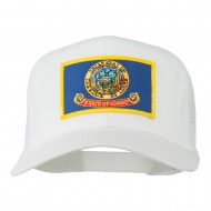 Idaho State Flag Patched Mesh Cap - White