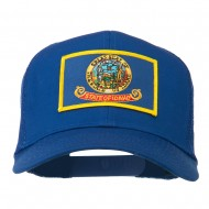 Idaho State Flag Patched Mesh Cap - Royal