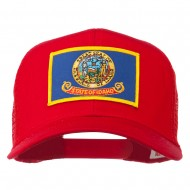 Idaho State Flag Patched Mesh Cap - Red