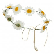 Daisy Garland Headpiece - White