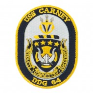 USS CG DDG Twisted Rope Military Patches - Carney